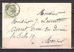 30 S/lettre De Beloeil Pour Mons. - 1869-1883 Leopold II