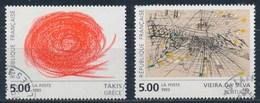France - Art Contemporain Européen Takis Et Vieira Da Silva YT 2834-2835 Obl. - Usados
