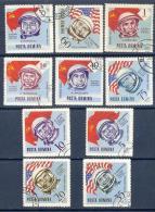 Space 1964 Romania Used 10 Stamps Mi 2238-47  Astronauts Cosmonauts - Space