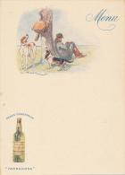 """Menu Publicitaire - Liqueur Des Pères Chartreux """"Tarragone"""" - Chasseur Et Ses Chiens,, Vimar - Menus"""