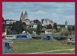 LOCHES. L´Eglise St-Ours, Le Château, La Tour St-Antoine. Vu Du Camping. (C.P.M. - Grand Format. - Voir Description.) - Loches