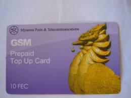 Myanmar Birmanie Burma Birma Hinta (bird) Elite Tech 10 FEC Mobile GSM Prepaid TOP UP Card EXP: No Date