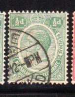 Nyasaland Protectorate 1913-19 King George V 1/2p Used - Nyasaland (1907-1953)