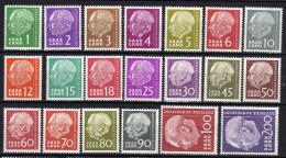 Saarland 1957 Mi 380-399 ** (Mi 381 *) [160314IX] @ - Unused Stamps