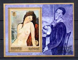 Ajman-Manama 1971, Tableaux De Modigliani, Mi  BK 99A **, Cote 7 €, - Impressionisme