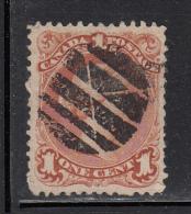 Canada Used Scott #22 1c Victoria Large Queen, Fancy Cork Cancel - 1851-1902 Règne De Victoria