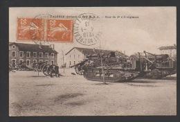DD / 26 DRÔME / VALENCE / ARMÉE / 184e REGIMENT D´ ARTILLERIE LOURDE / COUR DU 2e 1/2 REGIMENT / CIRCULÉE EN 1933 - Valence