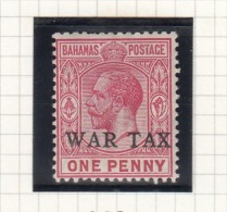 King George V - WAR TAX - Bahamas (...-1973)