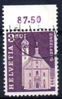 """SWITZERLAND 1964 """"Architectural Monuments"""" - 3F50 Benedictine Abbey, Engelberg  FU - Gebraucht"""
