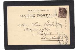Yvert 271 Sur Carte Postale Privée Repiquage J Dutrouilh Agen 1932 Cachet Flamme Oblitération Agen 1931 - Lettres & Documents