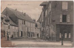 CPA Isere 38 - MENS Boulevard Frederic Gauthier Tres Beau Plan Sur Les Commerces Magasin Devanture Café Des Arts Epiceri - Mens