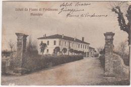 Pordenone Fiume Municipio Viaggiata 1910 - Pordenone