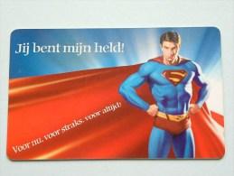 Hallmark ( 40 ) Gift / Wens Card / Jij Bent Mijn Held - Superman ( Formaat En Materiaal Idem Als Bankkaart ) !! - Cartes Cadeaux