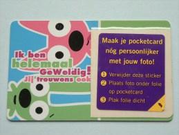 Hallmark ( 21 ) Gift / Wens Card / Hoops&yoyo Pocketcard ( Formaat En Materiaal Idem Als Bankkaart ) !! - Cartes Cadeaux