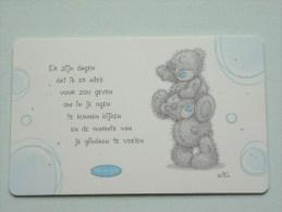 Beren Pocketcard Gift / Wens Card / Me To You GYQ0027D ( Formaat En Materiaal Idem Als Bankkaart ) !! - Cartes Cadeaux
