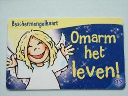 Beschermengelkaart ( Omarm Het Leven ) Pocketcard Gift / Wens Card ( Formaat En Materiaal Idem Als Bankkaart ) !! - Cartes Cadeaux