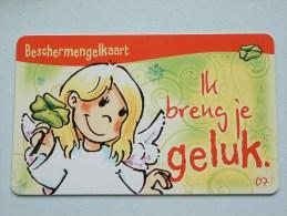 Beschermengelkaart ( Ik Breng Je Geluk ) Pocketcard Gift / Wens ( Formaat En Materiaal Idem Als Bankkaart ) !! - Cartes Cadeaux