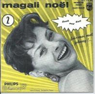 "45 Tours EP - MAGALI NOËL  - PHILIPS 432131 -  "" FAIS-MOI MAL JOHNNY "" + 3 - Vinyles"