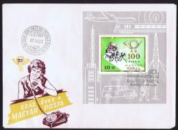 1967  Centenaire De La Poste En Hongrie  Bloc Feuillet - FDC