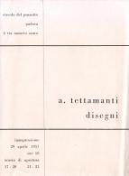 PADOVA - 1957 - PIEGHEVOLE MOSTRA Circolo Via Del Pozzetto -  Disegni Di A. TETTAMANTI - Programas