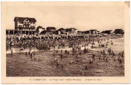 CP, 40, CAPBRETON, La Plage Vers L'Hôtel Miramar, L'Heure Du Bain, Voyagé En 1934, Ed : Yan - Capbreton