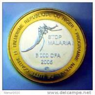Niger 6000 CFA 2005 Animal : Moustique Stop Malaria ! BIMETALLIQUE / Bicolore TRES RARE - Niger