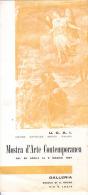 PADOVA - 1957 - PIEGHEVOLE MOSTRA U.C.A.I. - ARTE CONTEMPORANEA (MANCINI, MARCATO, NEGRI, TISATO) - Programas