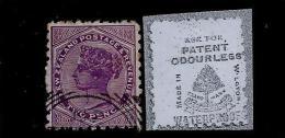 Nelle Zélande - N°61 Avec Publicité Au Verso - 1855-1907 Crown Colony