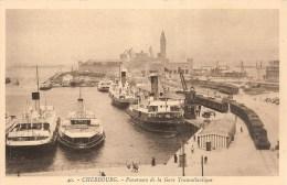 Cpa Cherbourg Gare Maritime  Les Transbordeurs   (ref355 ) - Cherbourg