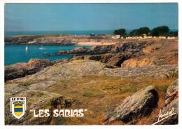 85 - L'Ile D'Yeu - La Plage Des Sabias, Depuis Le Vieux Château - Editeur: Jansol N° 243 - Ile D'Yeu