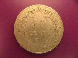 Belgique - Argent - 50 Centimes 1911 - Albert 1er - Légende En Flamand - TB - 06. 50 Centimes