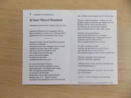 Doodsprentje Marcel Bontinck Wetteren 15/8/1923 Veurne 11/2/1999 ( Adriana Van De Velde) - Religion &  Esoterik