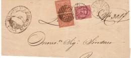 1888-Italia Affrancatura,mista Due Re,con 2c. Cifra + 10c. Umberto I - 1878-00 Umberto I