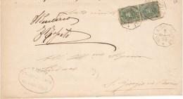 1896 Regno - Piego Da  Villa Del Conte A S.Giorgio In Bosco - Annullo Ottagonale - 1878-00 Umberto I