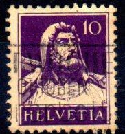 SWITZERLAND 1914 William Tell - 10c. - Violet On Buff  FU - Gebraucht