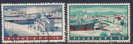 Greece, Scott # C 74,C78 Used Harbors, 1958 - Airmail