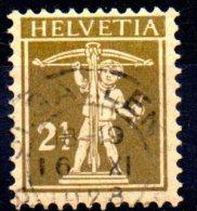 SWITZERLAND 1910 Tell´s Son - 21/2c. - Bistre On Buff   FU - Gebraucht