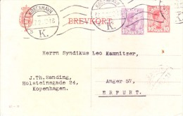 Danmark  1912 Used Post Card - Covers & Documents