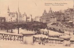 BEL34/  1935 Uitg. A.V., Ongewoon Zicht Steen Met Kindjes + Sterstempel En Vlam Oostende, Flamme Et Relais Ostende - Antwerpen