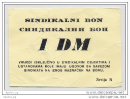 BOSNIA - BOSNIEN UND HERZEGOWINA,  1 German Mark(1993) VF, MEDICAL CENTRE In BANJA LUKA War Emergency Note - Bosnie-Herzegovine