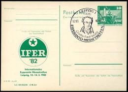 Esperanto-Messetreffen Leipzig DDR P79-7-82 C182 Postkarte Zudruck Sost. 1982 - Esperanto