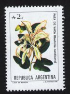 Argentine Flore Fleur Pata De Vaca Bauhinia Candicans - Briefmarken