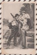4AF885 FRED MORGAN VATERS HEIMKEHR   2 SCANS - Paintings