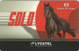 *ITALIA - LYCATEL* - Scheda Usata - Horses