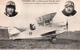 """Cpa   """" Nungesser Et Coli """" Les Heros Du Raid  """" Paris New-york """" Et L'avion Marin P.levasseur - Aviateurs"""