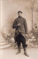 Carte Photo , Soldat Grande Guerre , En Tenue - Guerre 1914-18