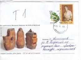 MOLDOVA   ;  MOLDAVIE ;  MOLDAU ; 2012 ; S.Ciocolov ; Painter ; Ceramist ; Used Pre-paid Envelope. - Moldawien (Moldau)