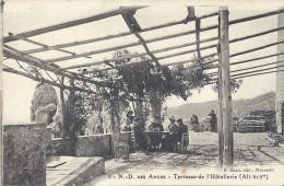 NOTRE-DAME-DES-ANGES-TERRASSE DE L'HOTELLERIE  BELLE CARTE ANIMEE - Francia