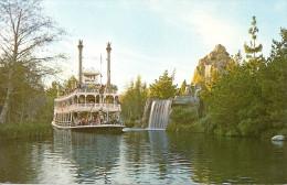 DISNEYLAND: MARK TWAIN- RIVERS OF AMERICA. HOMEWARD BOUND FROM A TRIP DOWN THE FRONTIER RIVERS OF AMERICA. GECKO. - Disneyland