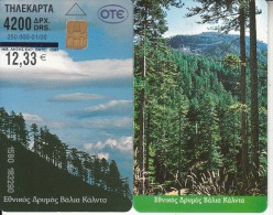 GREECE - National Park Of Valia Kalnta, 4200 Drx(and Price In Euro 12.33), Tirage 30000, 01/00, Exp.date 12/03, Used - Greece